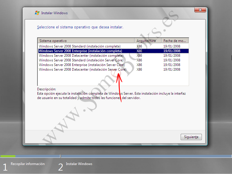 2.8. La opción Windows Server 2008 Core - SomeBooks.es