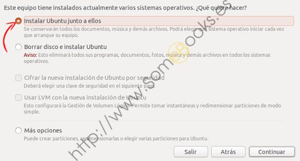 Instalar Ubuntu con otros sistemas