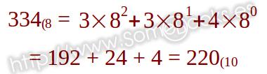 Octal a decimal