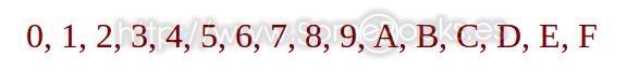 dígitos hexadecimales