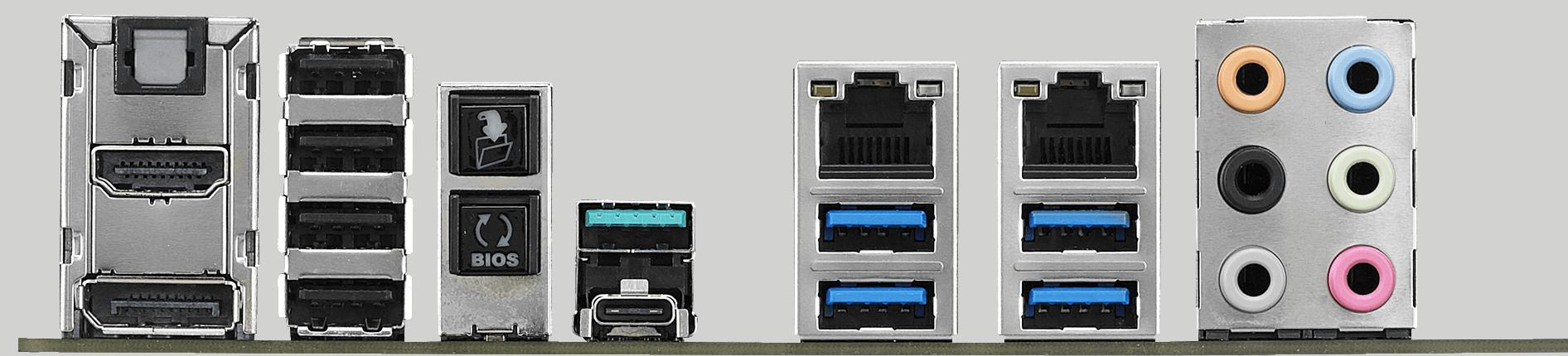 Conectores de una paca base