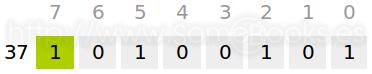 Ejemplo de número positivo en exceso a 2n-1
