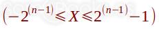 Rango de valores en exceso a 2n-1