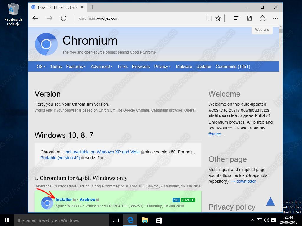 Chromium download windows