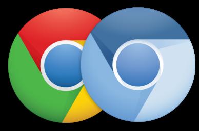 logos de Chrome y Chromium