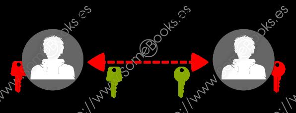 Se comparte la clave pública