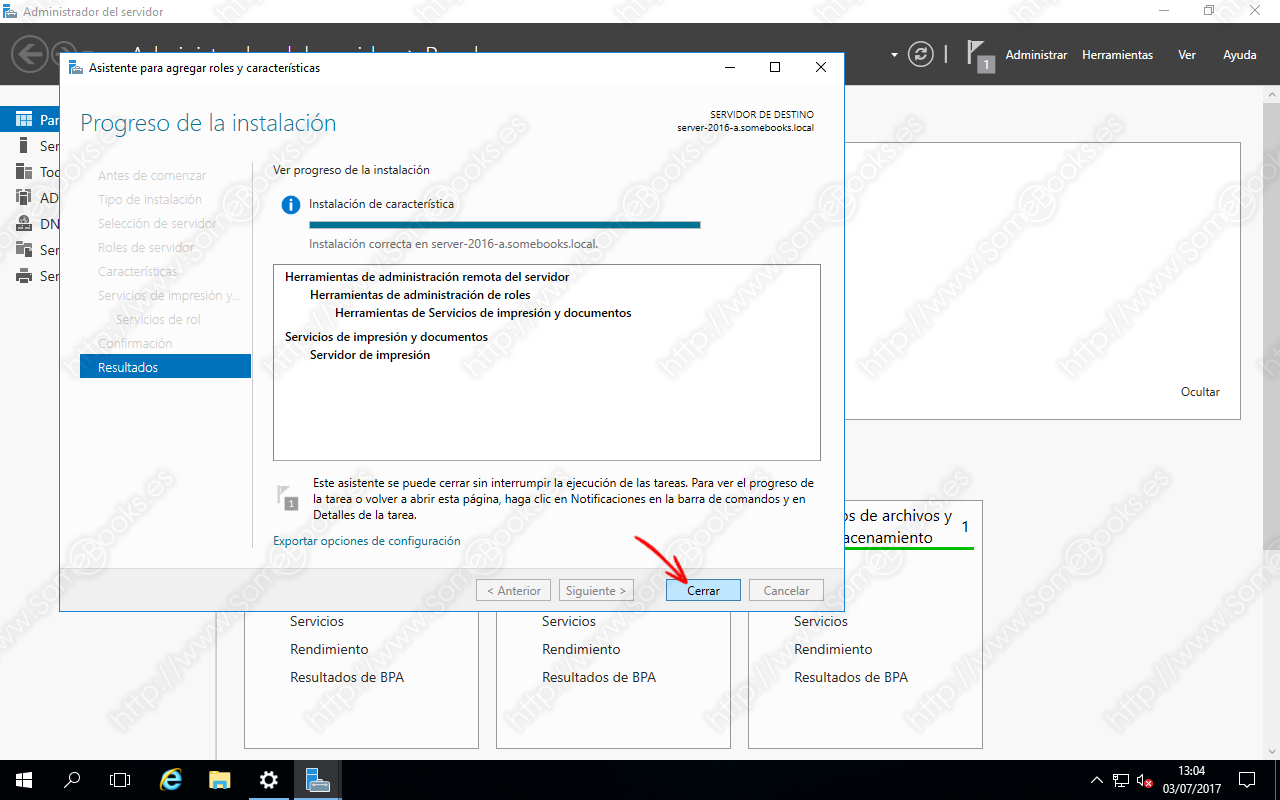Compartir una impresora del controlador de dominio con Windows ...
