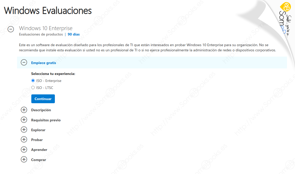 Crear una máquina virtual con Windows 10 en Proxmox VE - SomeBooks es