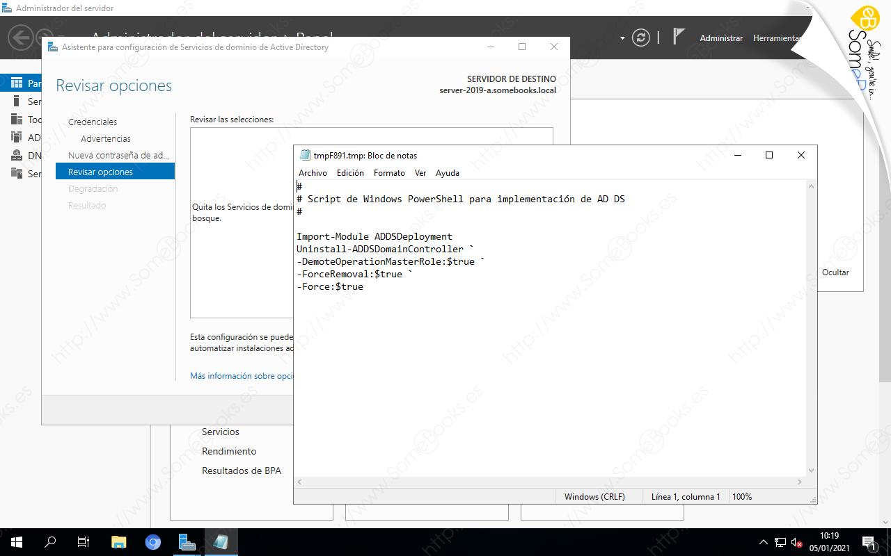 Script para degradar el controlador de dominio